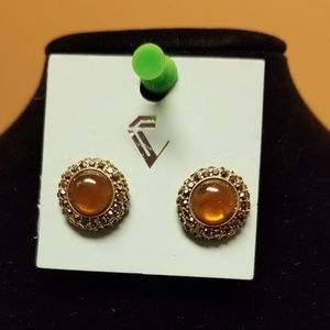 Gold Color Stone Earrings